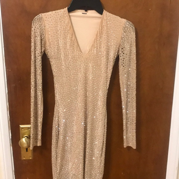 Windsor Dresses & Skirts - Gold long sleeved short dress